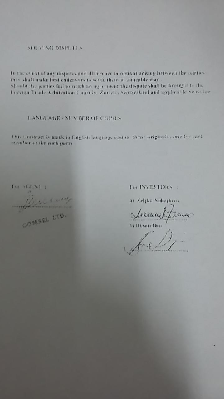 Ugovor Bana i Mihailovića sa Kneževićem o uplaćivanju milion i po eura koje je koristio Đukanović